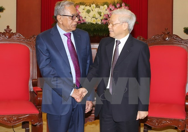 Party chief receives Bangladeshi President.jpg